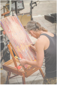 Live Painting at Nepal Earthquake Benefit in Truckee California